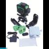 Kép 1/3 - Bautool TG703D-szett Önbeálló kereszt és vonal lézer(zöld fénnyel) + szett