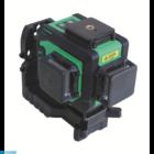 Bautool TG703D Önbeálló kereszt és vonal lézer 3D (zöld fénnyel) + szett