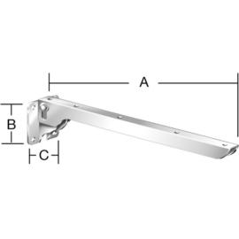 Vormann 00143200W lehajtható polctartó 200x60 (fehér)