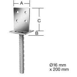 Vormann 71280000 betonozható oszloptalp 80x80x100