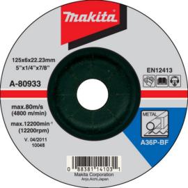 Makita A-80933 Csiszolótárcsa ACÉL 125x6mm