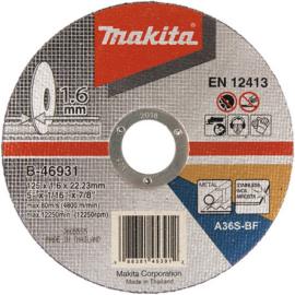 Makita B-46931 Vágókorong INOX 125x1,6 mm (acél)