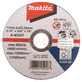 Makita A-85307 Vágókorong ACÉL 115x2,5mm