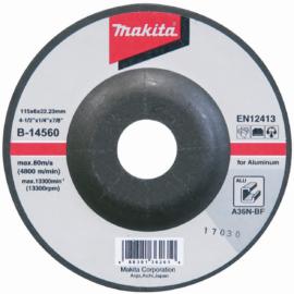 Makita B-14560 Csiszolótárcsa ALU 115x6mm