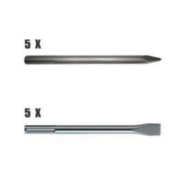 Makita D-35324-10 SDS-Max véső hegyesvéső, laposvéső készlet