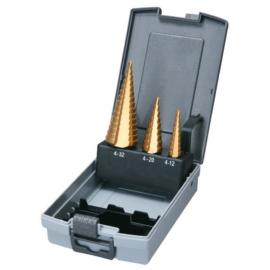 Makita D-41872 Lépcsősfúró készlet 4-12mm, 4-20mm 4-32mm
