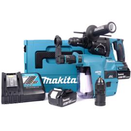 Makita DHR243RTJW Akkus SDS-Plus fúró-vésőkalapács 18V/2x5.0Ah