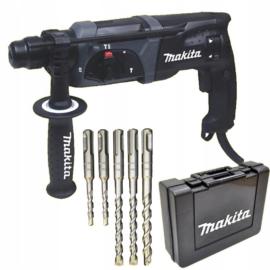 Makita HR2470BX40 SDS-Plus Fúró-vésőkalapács, 780W, kofferben, fúrószár készlet