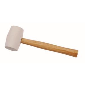 Bautool 4440600 Gumikalapács fa nyéllel fehér gumi