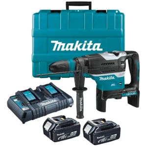 Makita DHR400PT2U 2x18V LXT Li-ion BL 8,0J SDS-Max fúró-vésőkalapács 2x5.0Ah