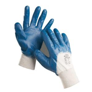Cerva 0107000499100 kesztyű mártott nitril, kék 10-es