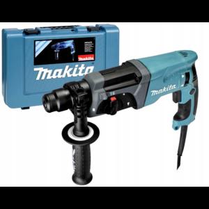 Makita HR2470T SDS-Plus fúró-vésőkalapács 780W, koffer, cseretokmány