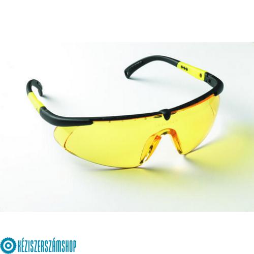 Bautool 0501042470 Munkaszemüveg állítható szárral, sárga, UV szűrős