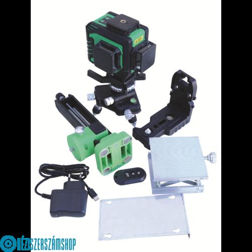 Bautool TG703D-szett Önbeálló kereszt és vonal lézer(zöld fénnyel) + szett