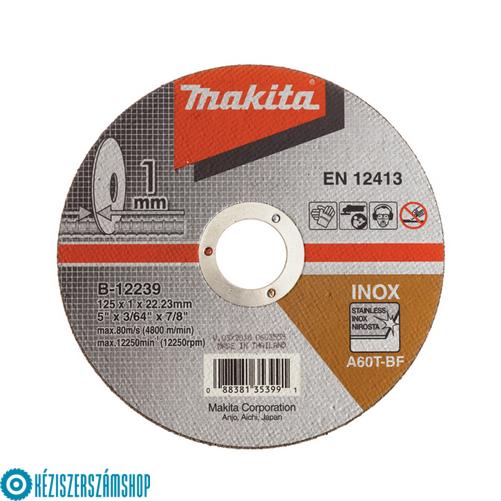 Makita B-12239 Vágótárcsa 125/1,0mm