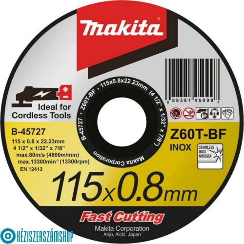 Makita B-45727 Vágókorong INOX