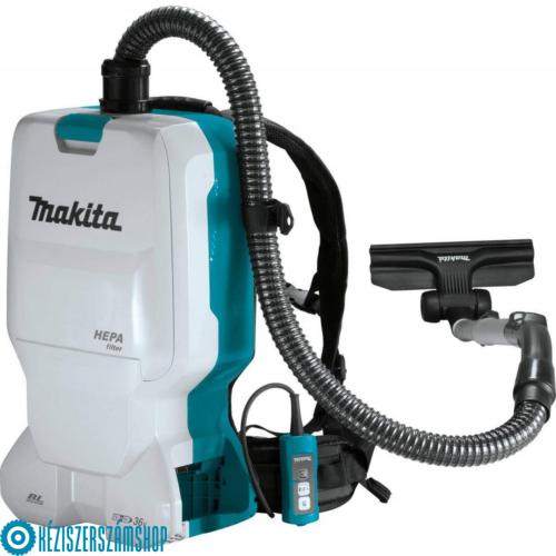 Makita DVC660Z 2x18V akkus háti porszívó (akku és töltő nélkül)