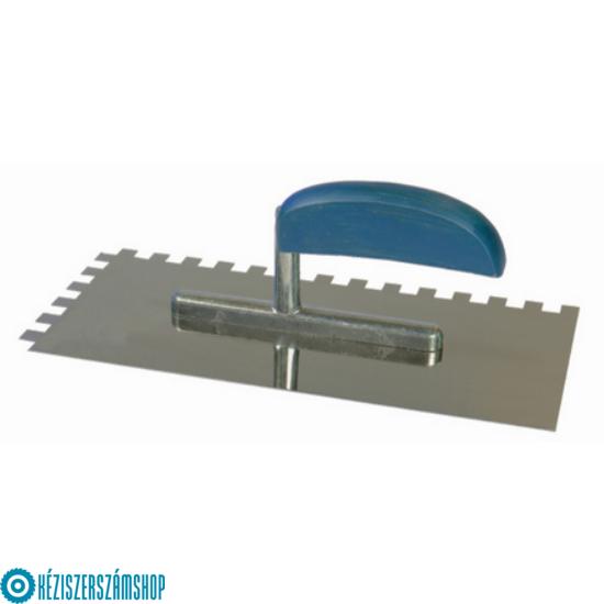 Bautool 9130/S15 Rozsdamentes fogazott glettelő (inox) 15x15mm