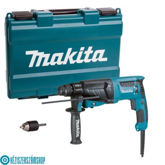 Makita HR2630X7 SDS-Plus fúró-vésőkalapács, 800W, gyorstokmánnyal, kofferben